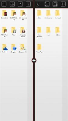 File Explorer X - Two windows