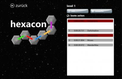 Hexacon - Leaderboard