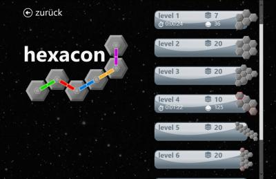 Hexacon - Selection of levels