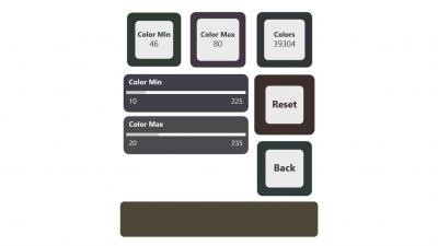 Math Attack - Colors menu